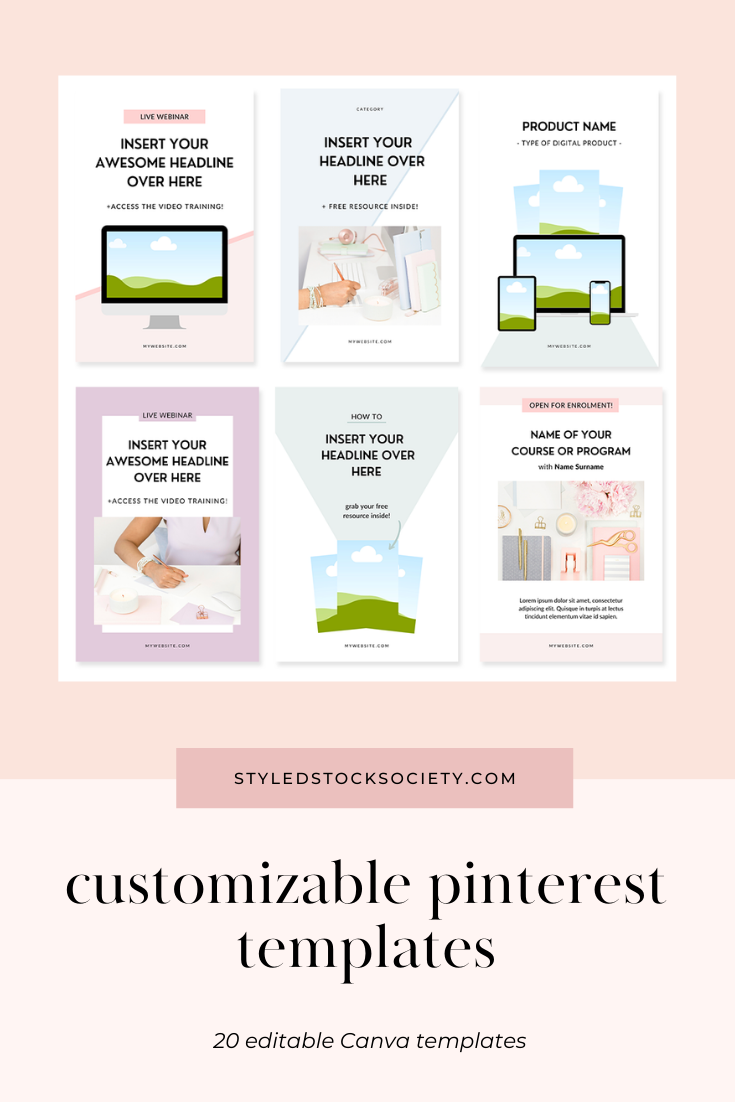Pinterest Offer Canva Templates