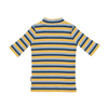 3/4 Sleeve Ribbed Turtle Neck ~ Yellow/Blue - Little Gumnut Co.