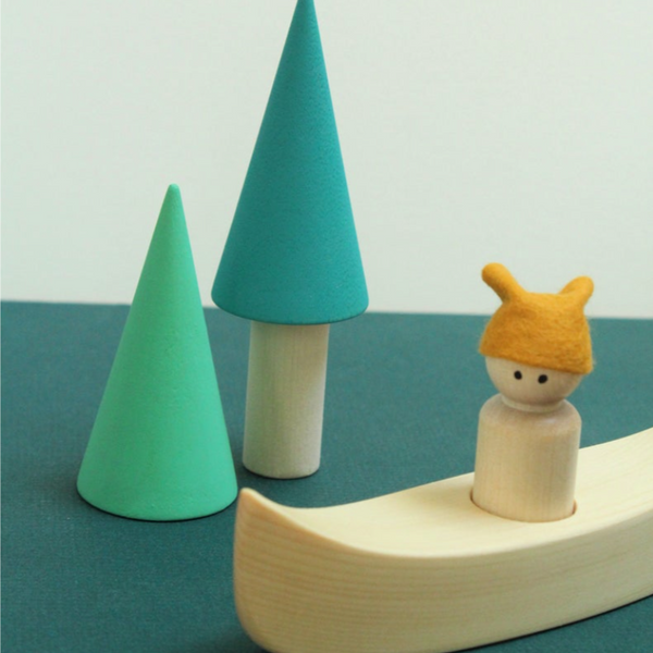 Wooden Canoe Adventure Play Set ~ Medium - Little Gumnut Co.