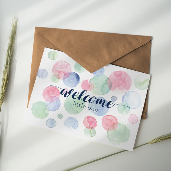 Greeting Card ~ Welcome Little One - Little Gumnut Co.