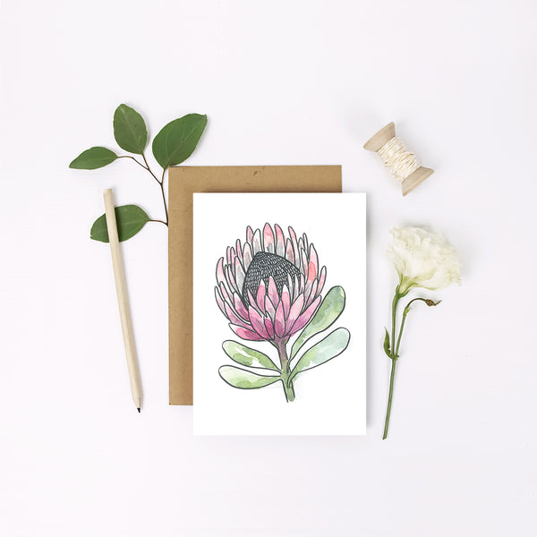 Mini Greeting Card ~ Floral - Little Gumnut Co.