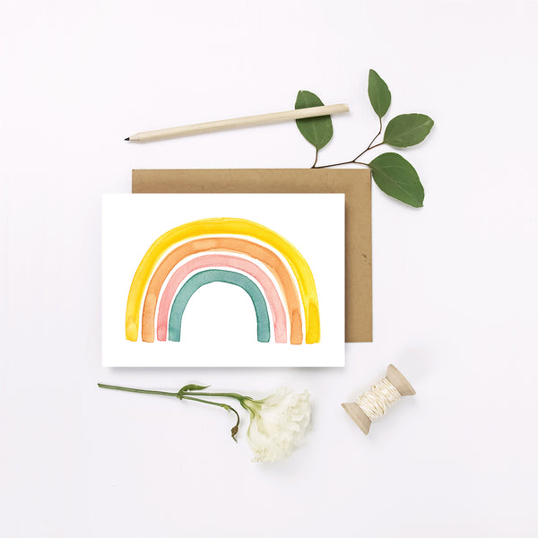 Mini Greeting Card ~ Rainbow - Little Gumnut Co.