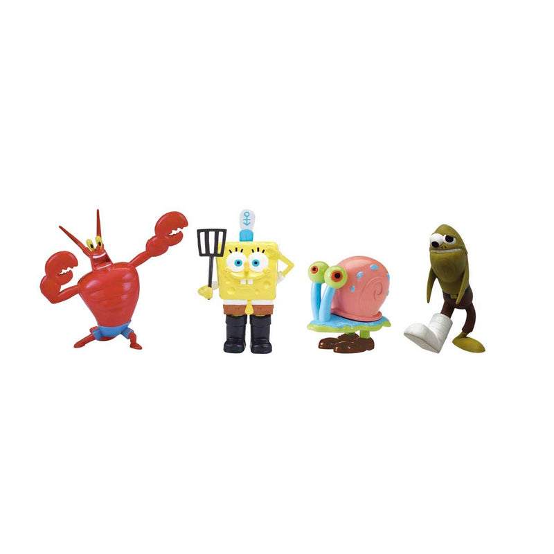 SpongeBob SquarePants F.U.N. Friends 4-pack - Fry Cook SpongeBob, Gary, Larry the lobster, and Fred the Fish