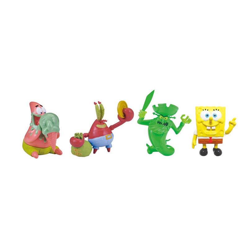 SpongeBob SquarePants F.U.N. Friends 4-pack - SpongeBob, Patrick, Mr. Krabs, and the Flying Dutchman