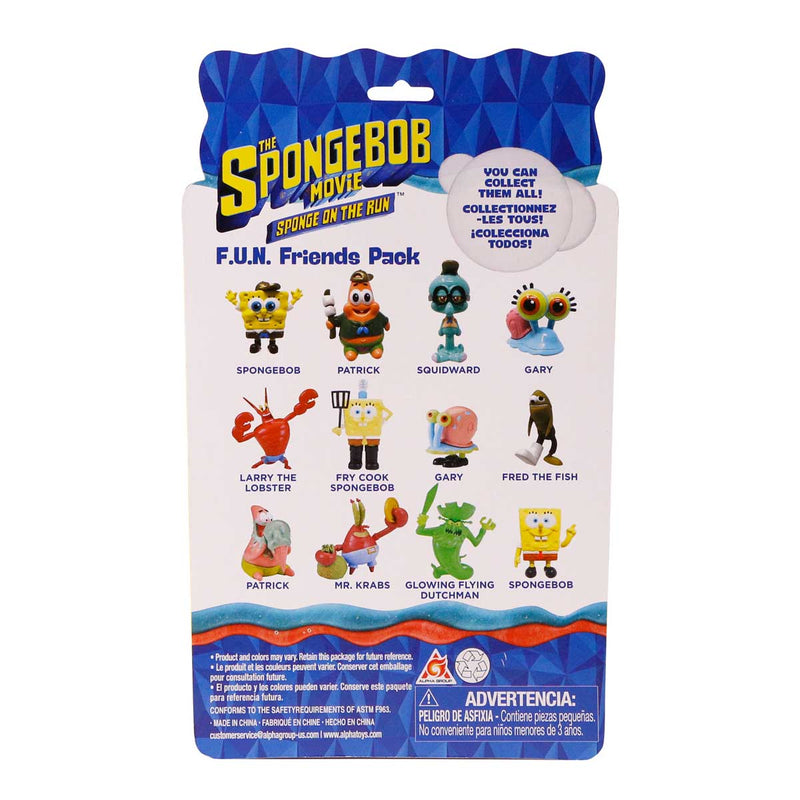 SpongeBob SquarePants F.U.N. Friends Movie Pack 4-pack