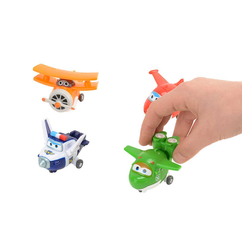 Super Wings - Transform-a-Bots 4pk - Jett, Mira, Paul, and Grand Albert
