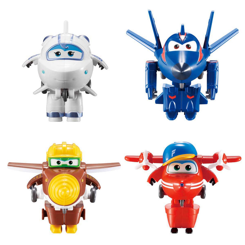 Super Wings - Transform-a-Bots 4pk - Agent Chace, Astra, Flip, and Todd