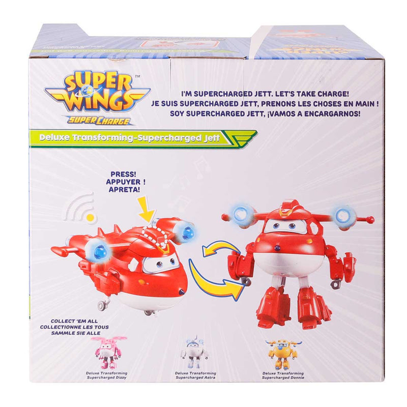 Super Wings - Deluxe Transforming Supercharged Jett