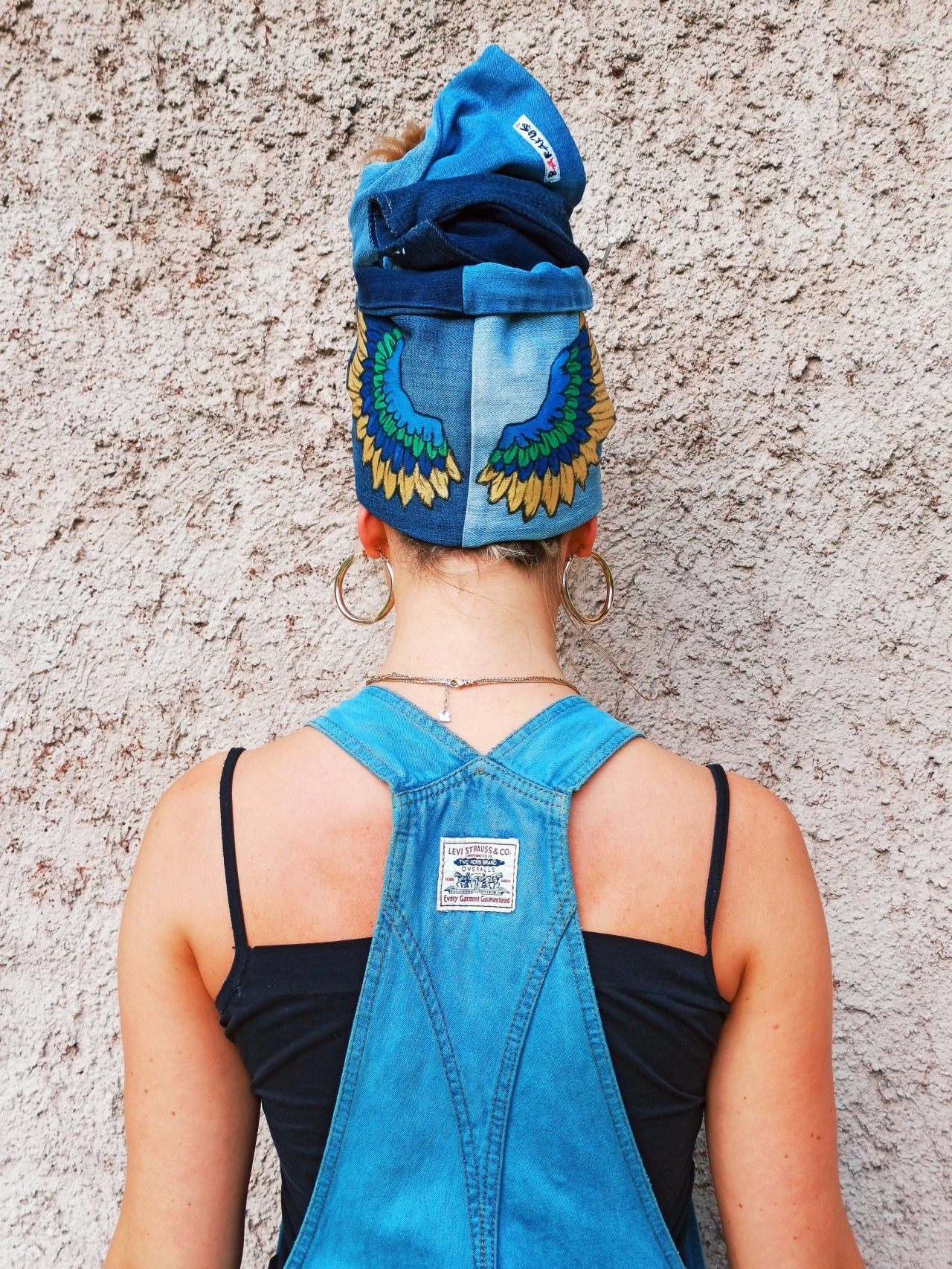 Customized Denim Flexible Turban 2001