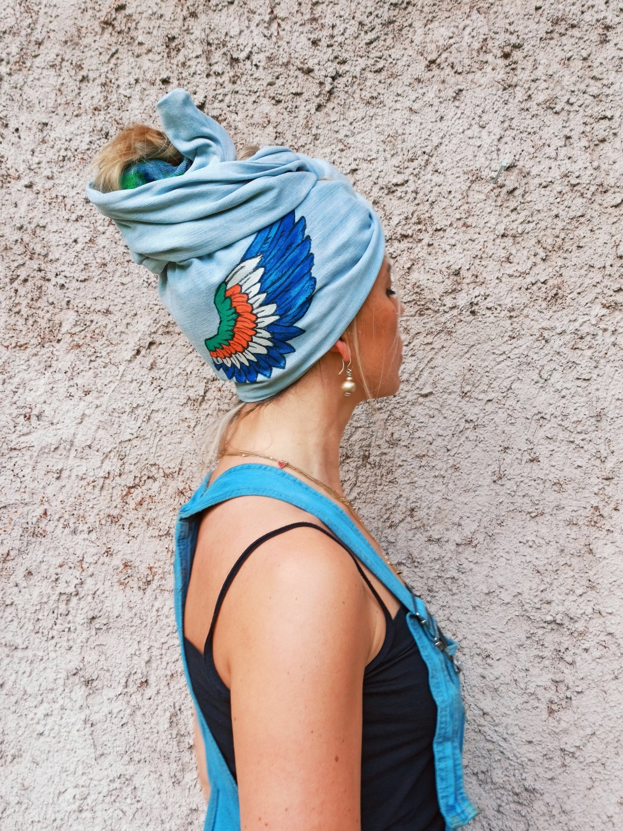 Customized Denim Flexible Turban 2004