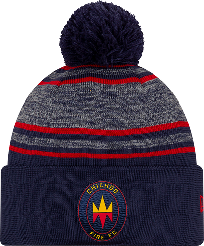 CHF Cuffed Knit Pom Beanie On-Field Collection