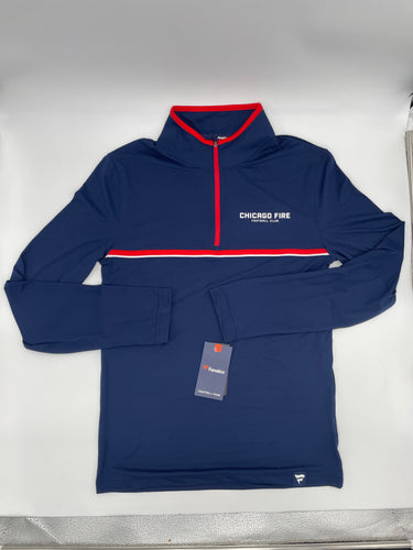 Men's Chicago Fire Fanatics Branded Navy Lineup Quarter-Zip Jacket