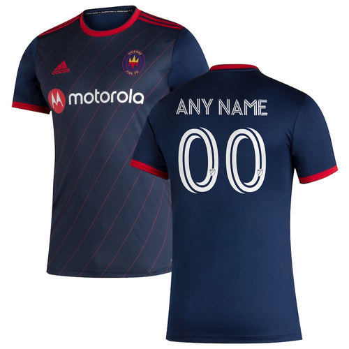 Youth Customized Chicago Fire Replica Primary Jersey 2020 Navy