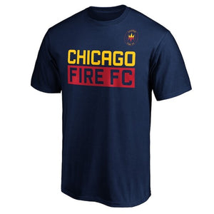 Men's Chicago Fire Staple Short Sleeve Tee Navy