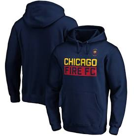 Men's Chicago Fire Fanatics Branded Navy Staple Pullover Hoodie