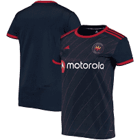 Women's Chicago Fire Adidas Navy 2020 Replica Primary Jersey