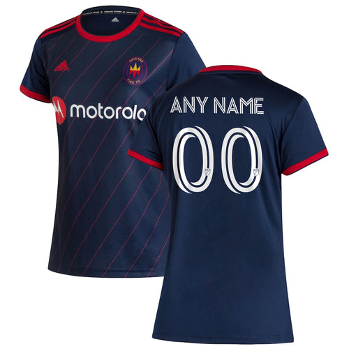 Women's Customized Chicago Fire Replica Primary Jersey 2020-Navy