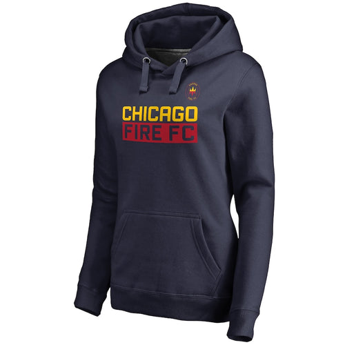 Women's Chicago Fire Fanatics Branded Navy Staple Pullover Hoodie