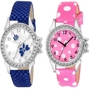 Combo Of 2 Analog Synthetic Leather Watches