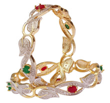 Load image into Gallery viewer, Gold Plated American Diamond Bangles for Women and Girls Size_2.4