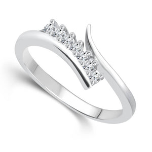 Silvo Beauty (CZ) Rhodium Plated alloy Ring for women and Girls - [VFJ1077FRR]