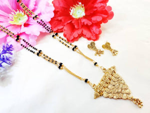 Trendy Alloy Gold Plated Mangalsutra Set