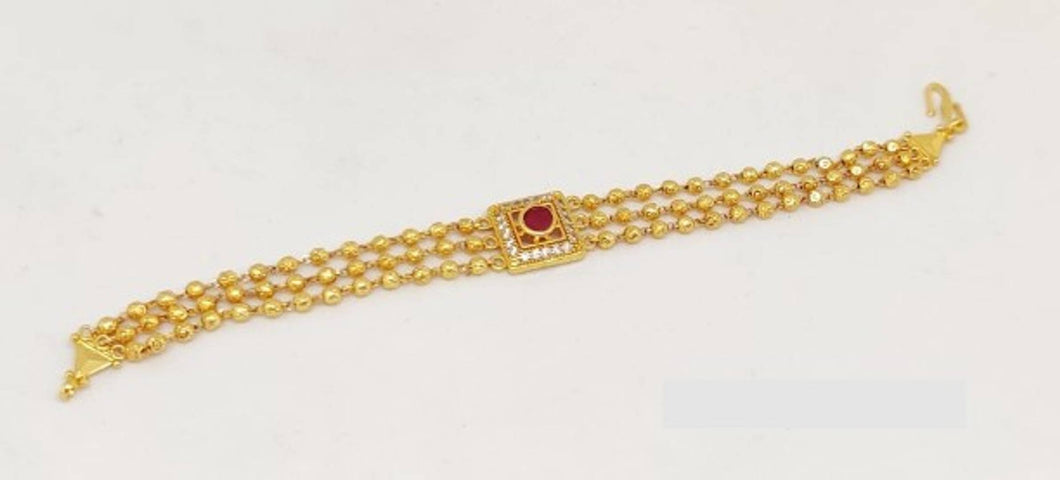 Gorgeous Red American Diamond Square Bracelet