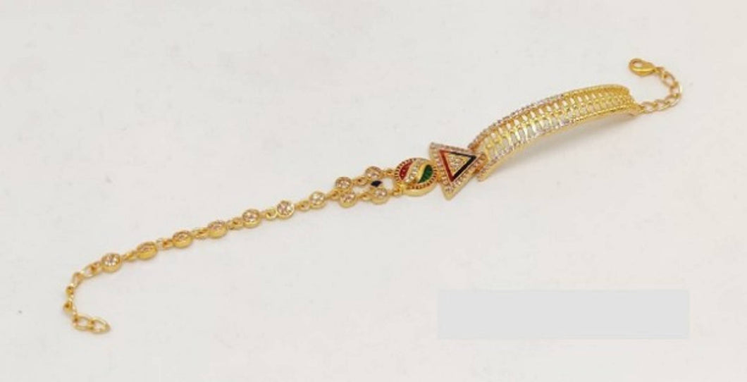 Gorgeous Gold Plated American Diamond Bracelet
