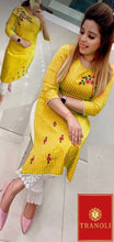 Load image into Gallery viewer, Tranoli Cotton Embroidered Kurta With Pant Set