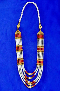 Lovely Pearl beaded Womens Jewelry Suitable for all saree colours