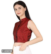 Load image into Gallery viewer, Women's Party No Sleeve Gold Foil Printed Maroon Top