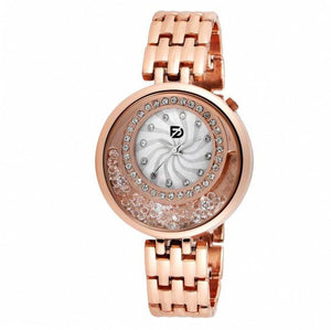 Stylish and Trendy Copper Metal Strap Analog Watch for Women's