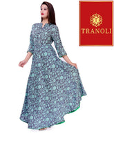 Load image into Gallery viewer, Tranoli Rayon Printed Fancy Anarkali Kurtas