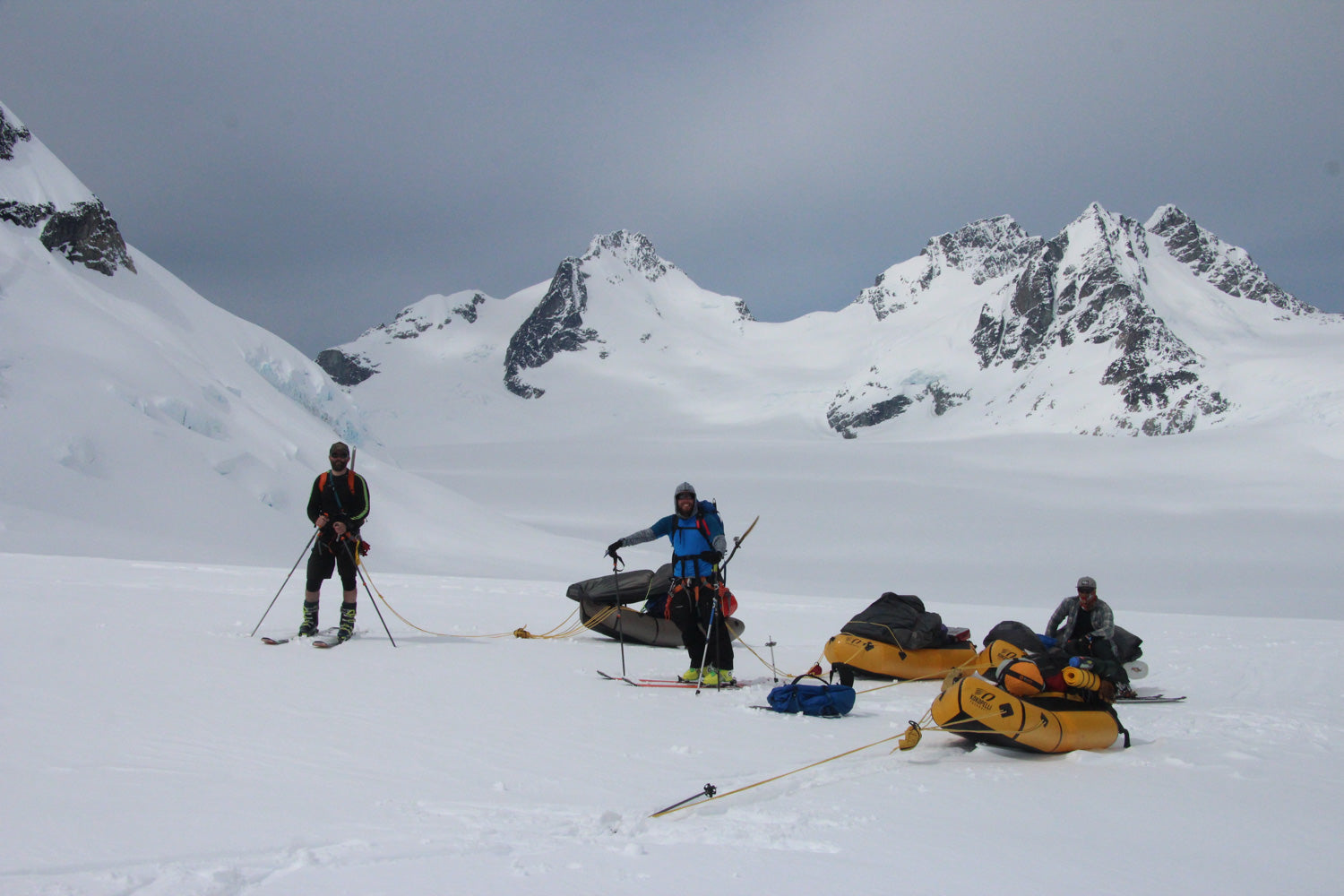 Monarch Icefield Canada Packraft