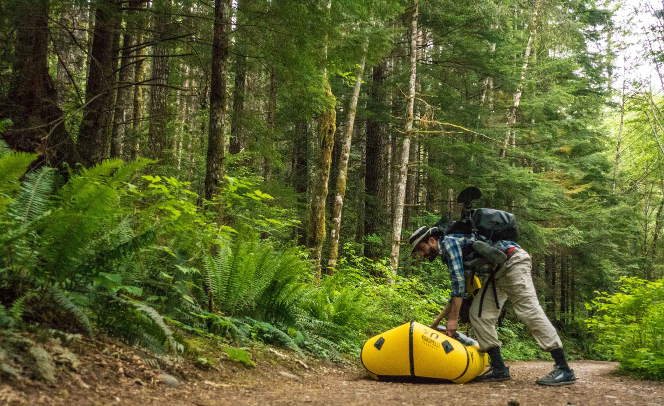 Backpacking, things you can do in a Kokopelli packraft