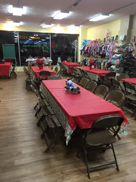 Community Kindness of Eastern Oregon's setup for our 2019 Christmas Day Buffet.