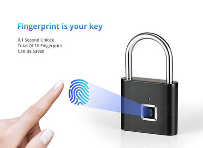 Keyless Fingerprint Smart Padlock