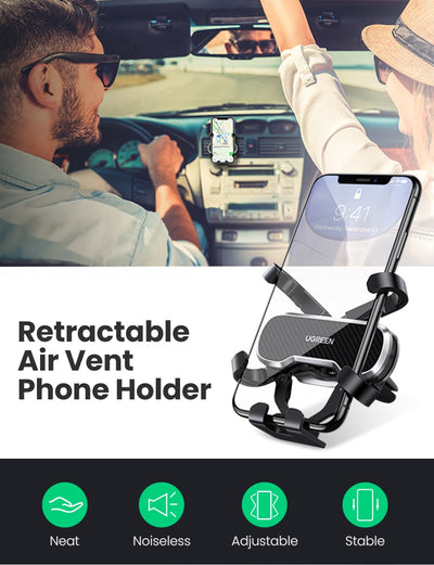 UGREEN Phone Holder for Phone in Car Air Vent Clip