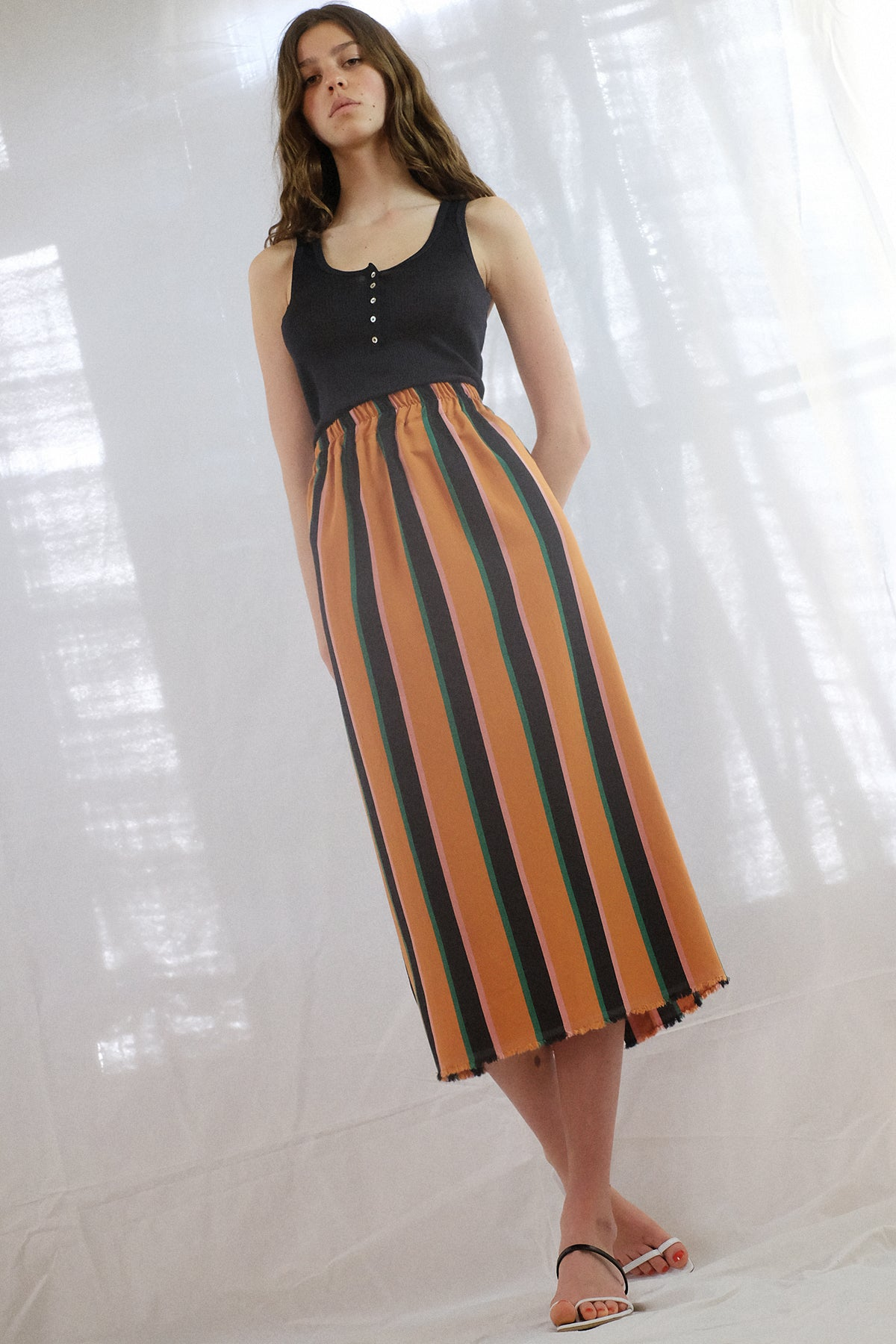 Vladimir Karaleev — Basic Skirt / Orange