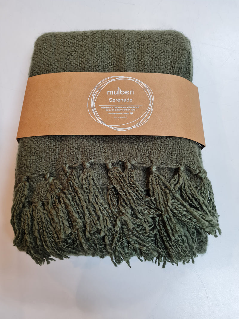 Mulberi  Serenade Throw - Olive