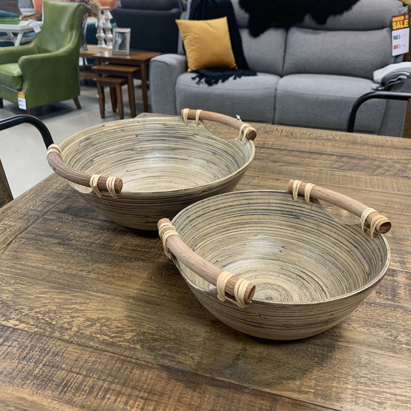 Stained Spun Bamboo Bowls