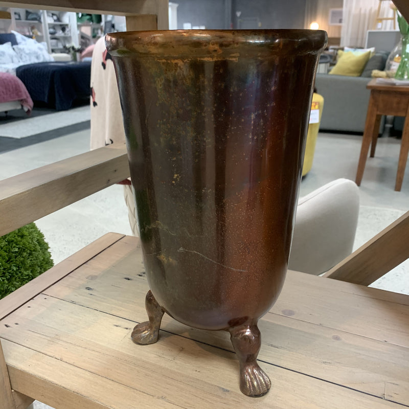 Copper coloured Vase with legs