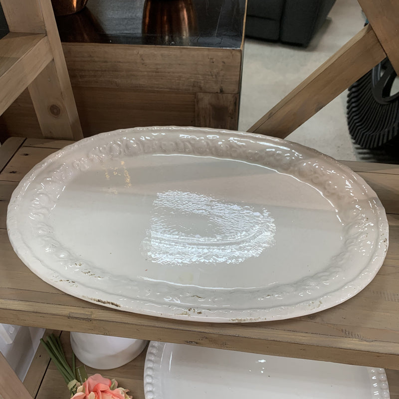 Larger white Antique plate