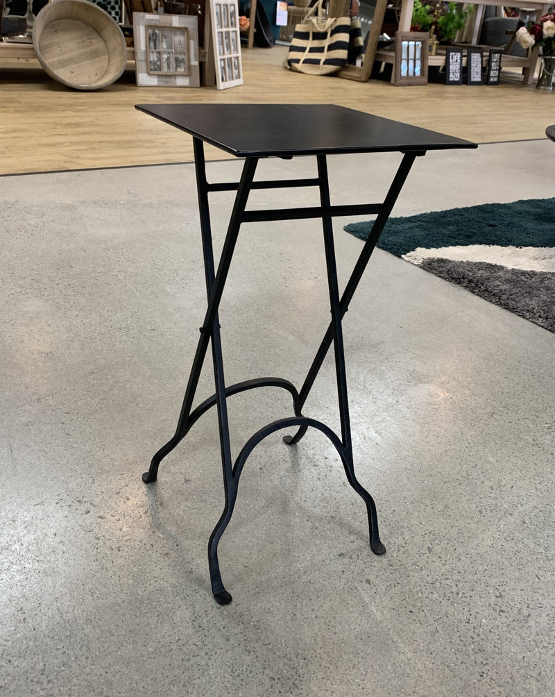 Square Wrought Iron side table