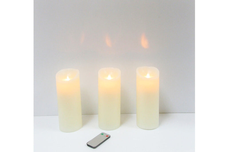 LED Candle Set of 3 with remote