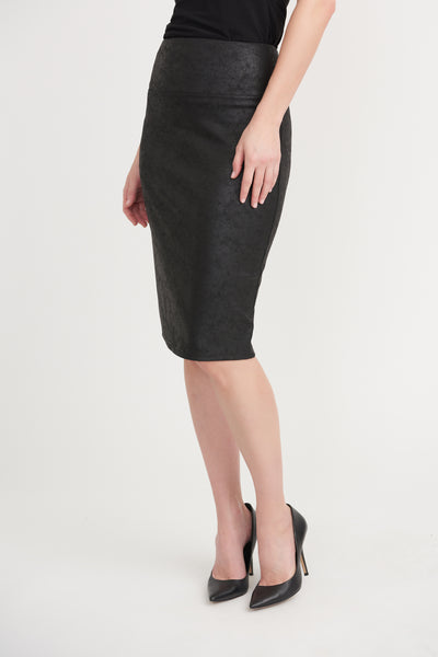 Joseph Ribkoff 203375 Black Pencil Skirt Front