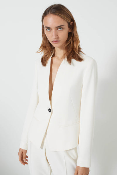 Marella Art. 365 Cream Jacket with stand up collar front