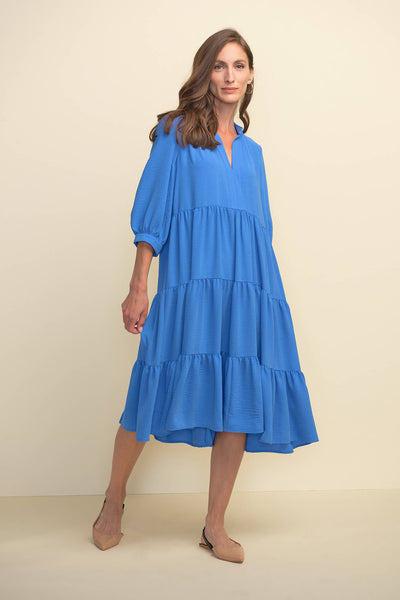 Joseph Ribkoff 211488 Aegean Sea Blue Smock Dress