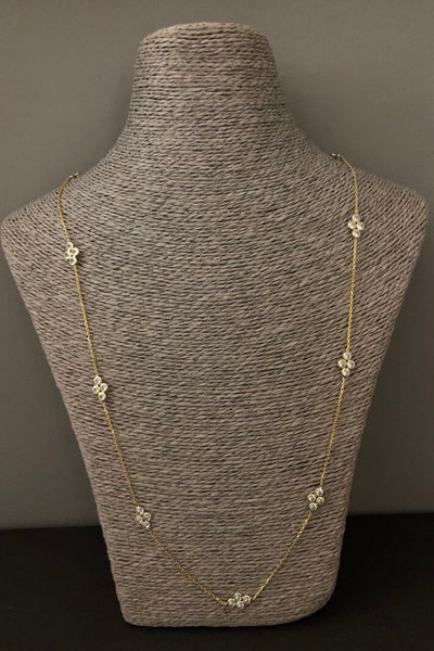 iCandi Rocks Luna Drops Long Gold Plated Necklace