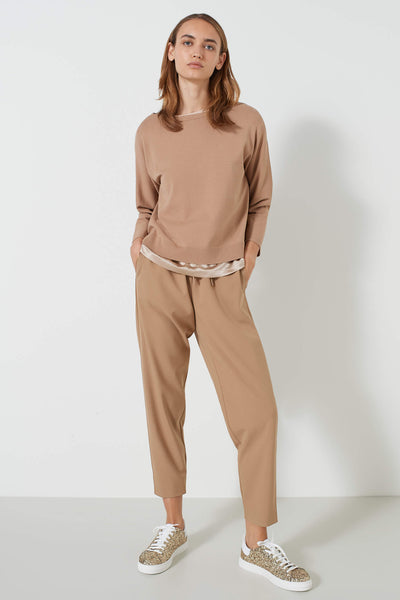 Marella Lupin Camel Boxy Jumper Front
